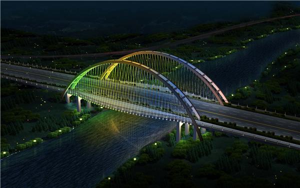 泛光照明/江西户外景观亮化公司/桥梁亮化工程/仰天大桥