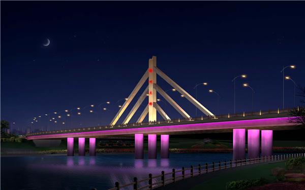 泛光照明/江西户外景观亮化公司/桥梁亮化工程/渝州大桥